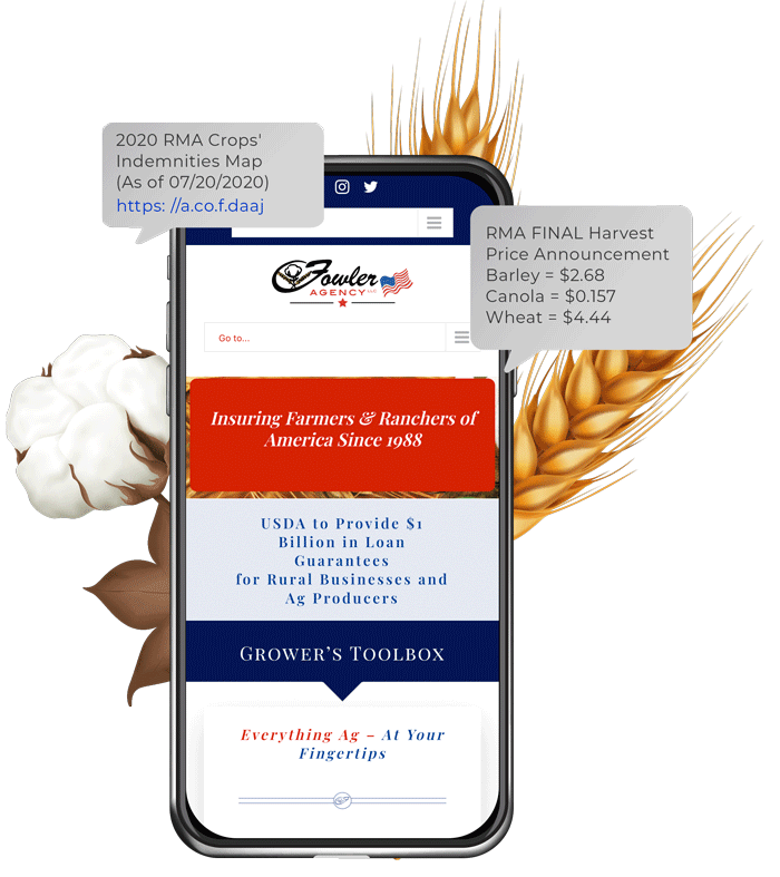 Sign-Up for Text Message Alerts | Fowler Agency | Crop & P&C Insurance