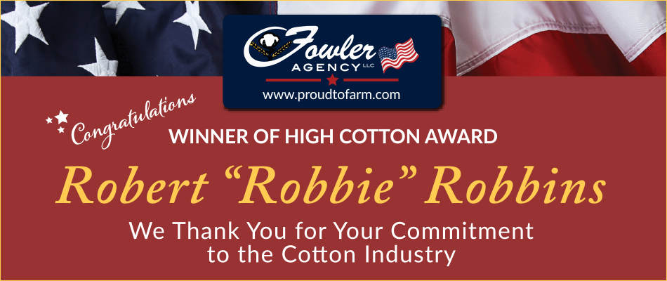 Robbie Robbins Named 2021 High Cotton Winner for the Southwest