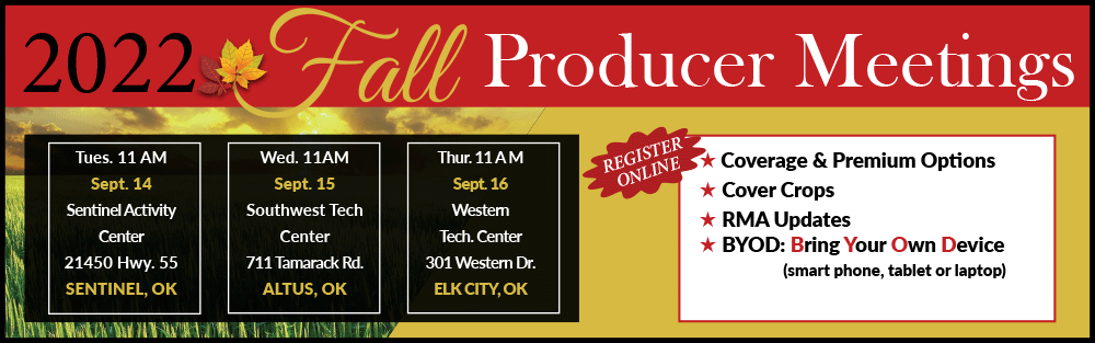 Register Now for 2022 Fall Producer Meeting